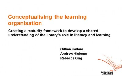 National and State Libraries Australasia (NSLA): Libraries as learning institutions