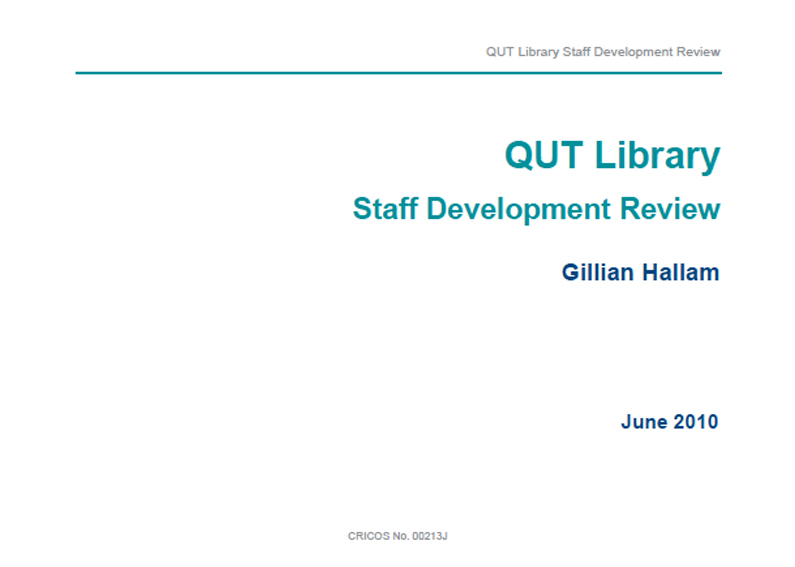 QUT Library Staff Development Review