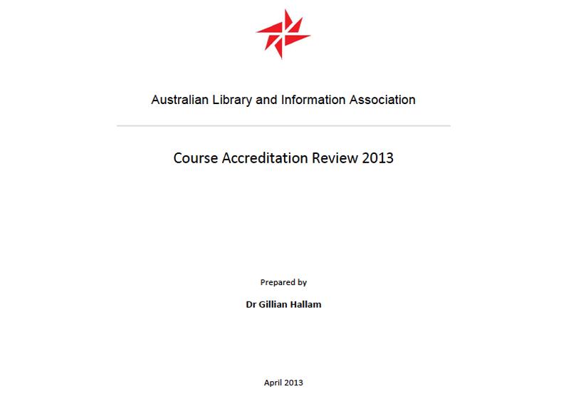 ALIA: Course accreditation review 2013