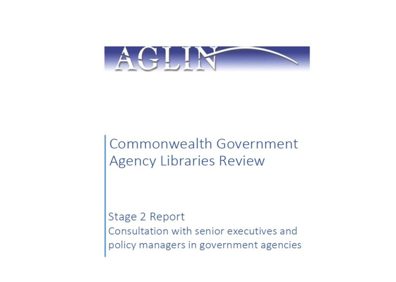 Commonwealth government agency libraries review: Stage 2