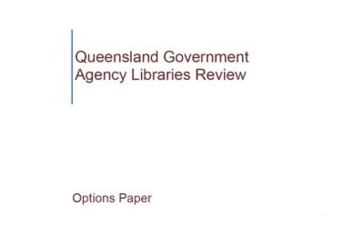Queensland Government Agency Libraries Review